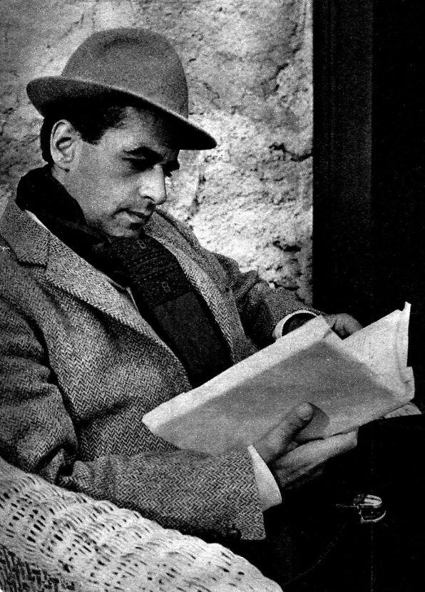 Giani Esposito sur le tournage d'Une fille dans la montagne (1964)