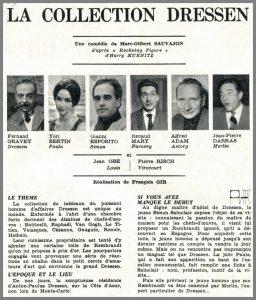 Giani Esposito - La collection Fressen 1963 - Programme