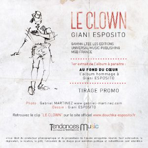 """Poche du single """"Le clown"""" de Douchka Esposito"""