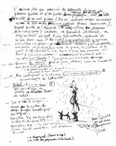 Lettre de Giani à Gérald Duduyer (avec dessin)